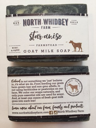 NorthWhidbey Farm Goat Soap - Star Anise (8 left)