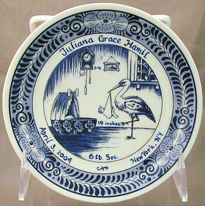 Personalized Birth Plate 6""