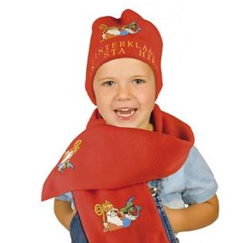 Sinterklaas Fleece Scarf & Hat Set